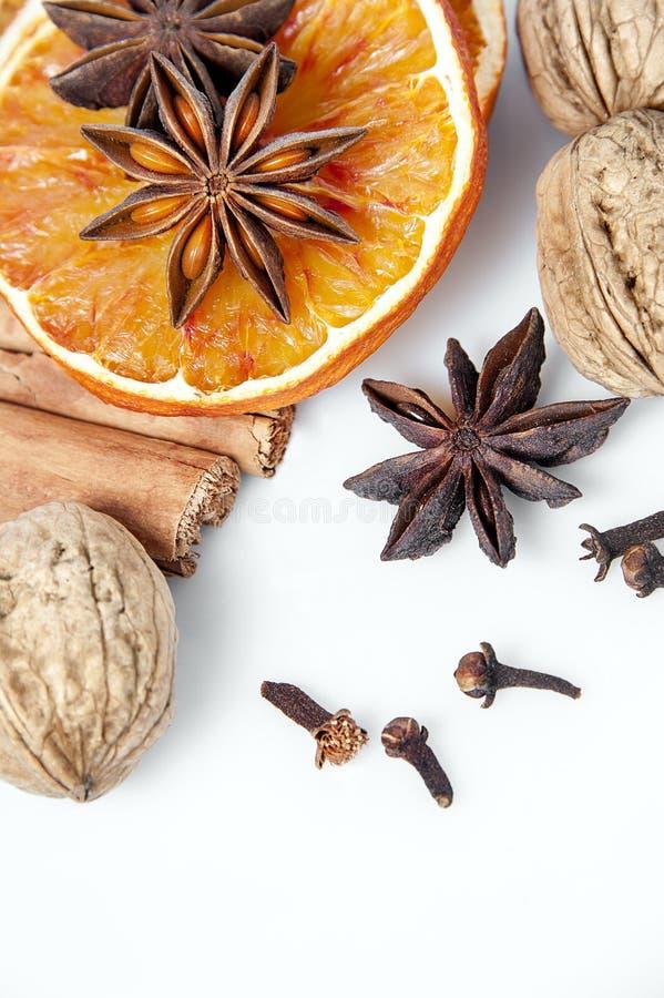 Fette e spezie arancio fotografie stock
