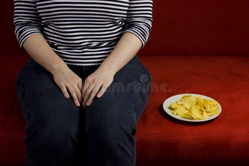 Fette Frauendiät stockfoto