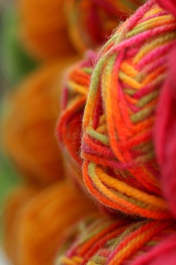 Fette Garn-Farben stockfoto