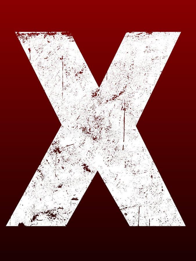 Fette Grunge Zeichen - X lizenzfreie abbildung