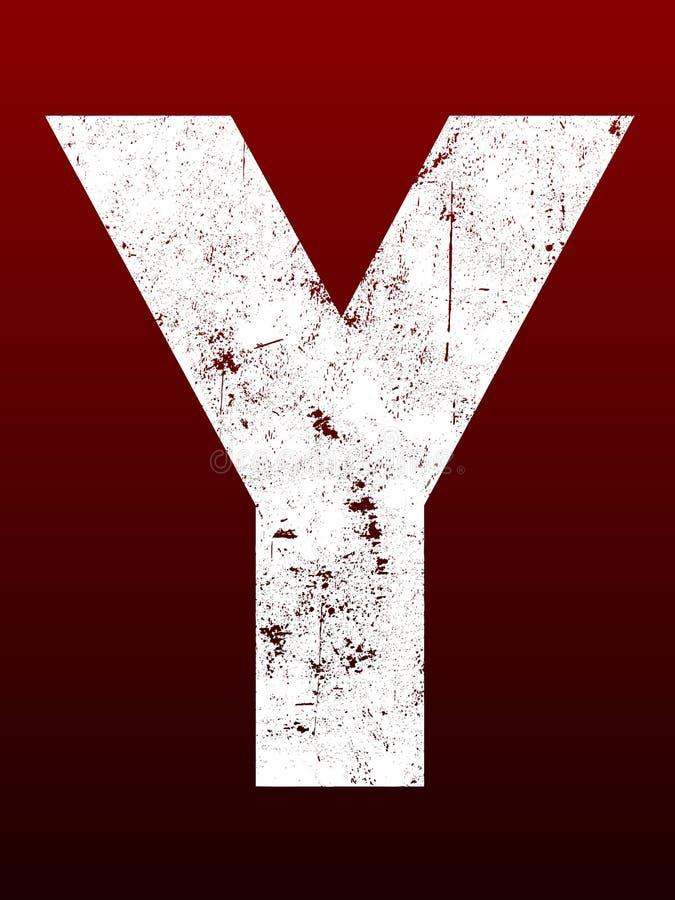 Fette Grunge Zeichen - Y vektor abbildung