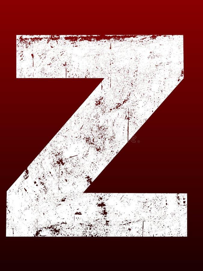 Fette Grunge Zeichen - Z vektor abbildung
