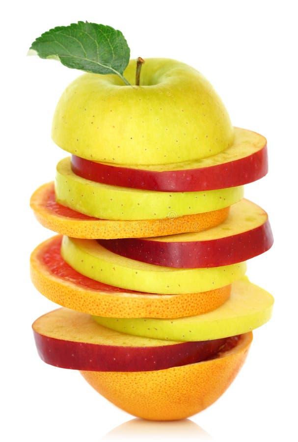 Fette miste fresche di frutta immagine stock