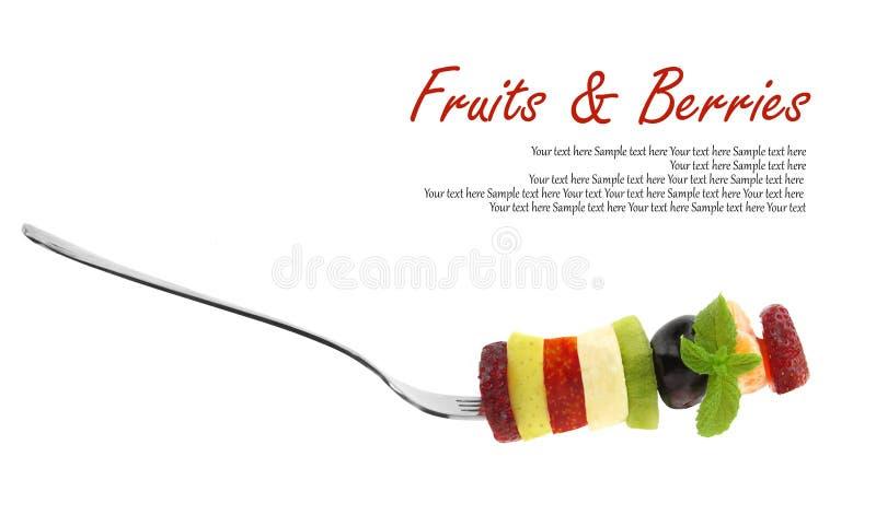 Fette miste fresche di frutti fotografia stock