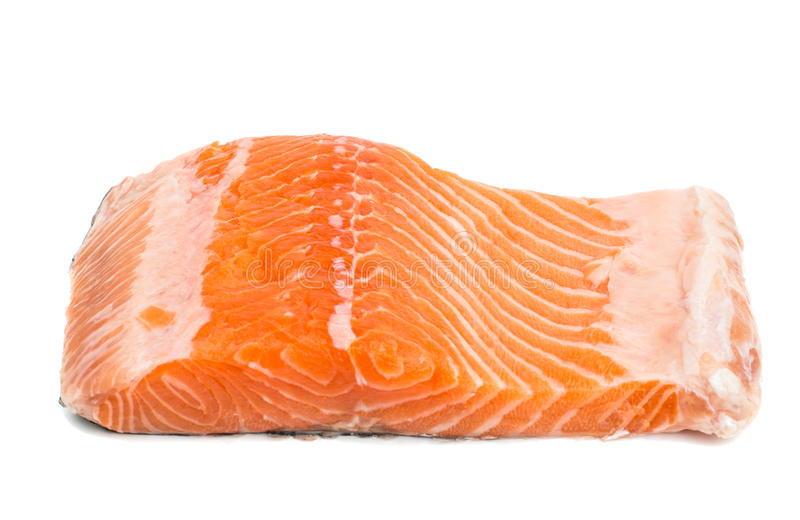 Fette rosse crude fresche del filetto di pesce fotografia stock