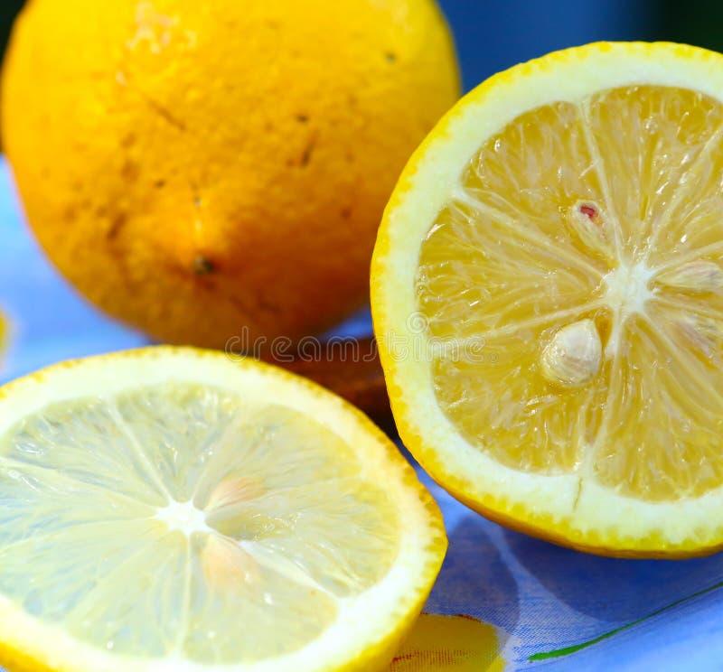 Fette succose del limone dei limoni fotografia stock