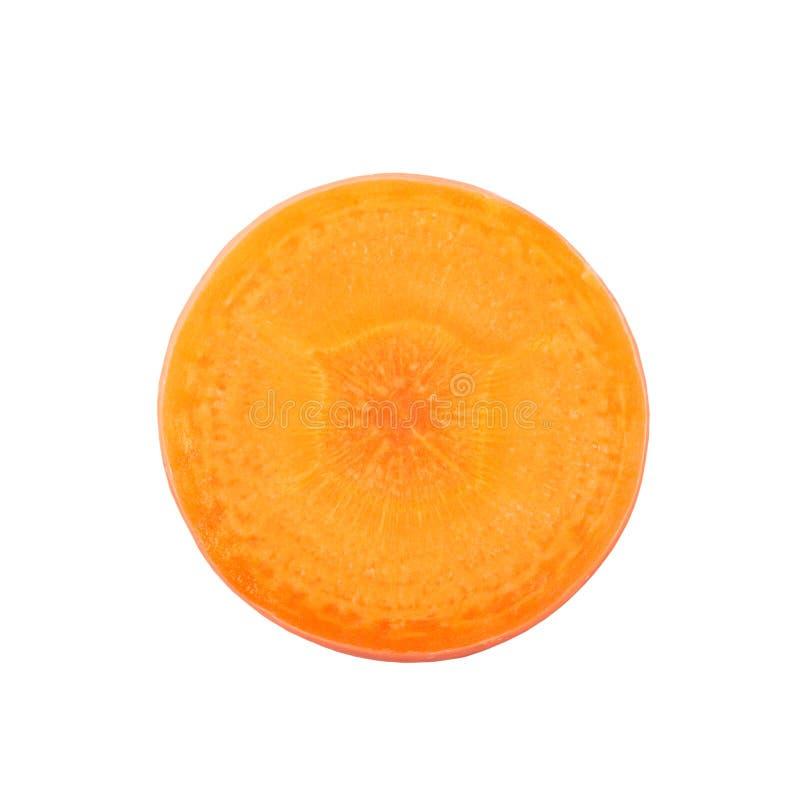 Fette tagliate della carota fotografie stock libere da diritti