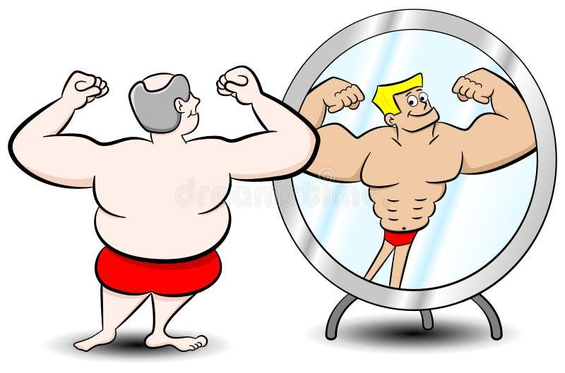 Fetter Muskelmann stock abbildung