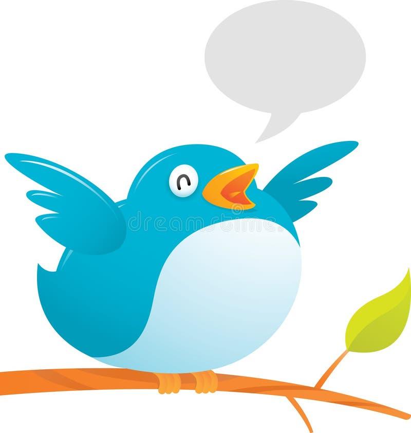 Fetter Twitter-Vogel vektor abbildung