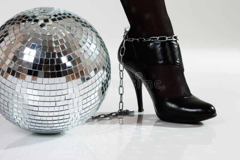 Fetters della discoteca fotografia stock