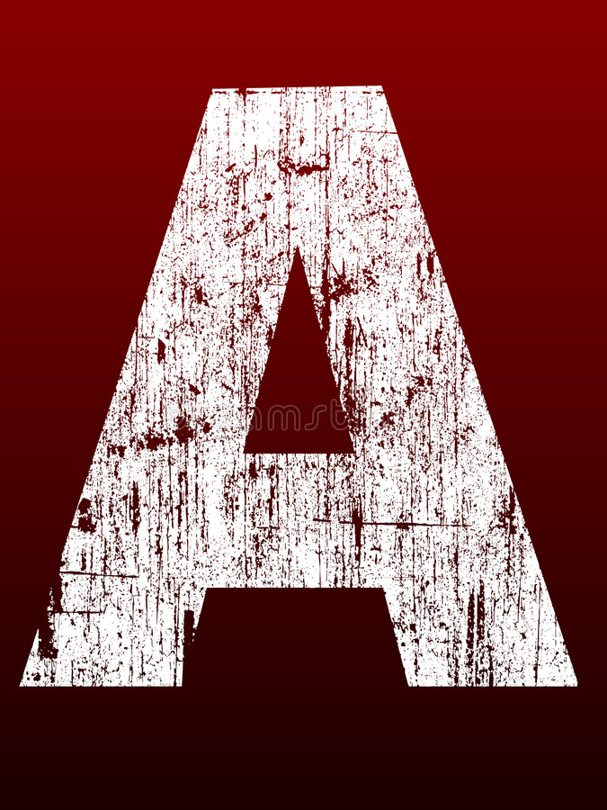 Fettes Grunge Alphabet A vektor abbildung