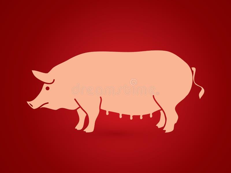 Fettes Schwein stock abbildung