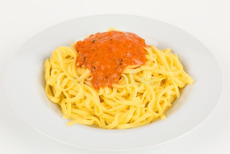 Fettuccine с томатным соусом стоковые изображения