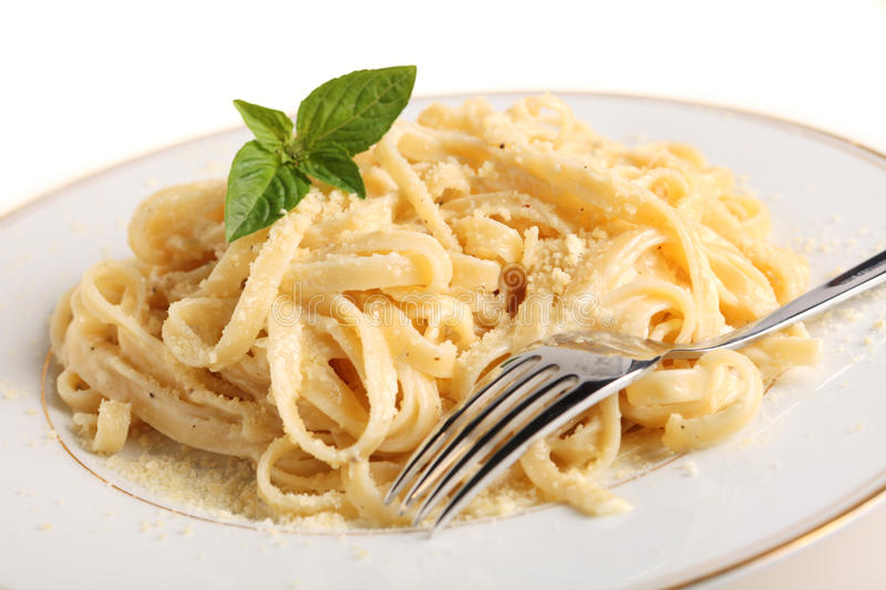 Download Fettuccine all Alfredo stock photo. Image of plate, grated - 18640354