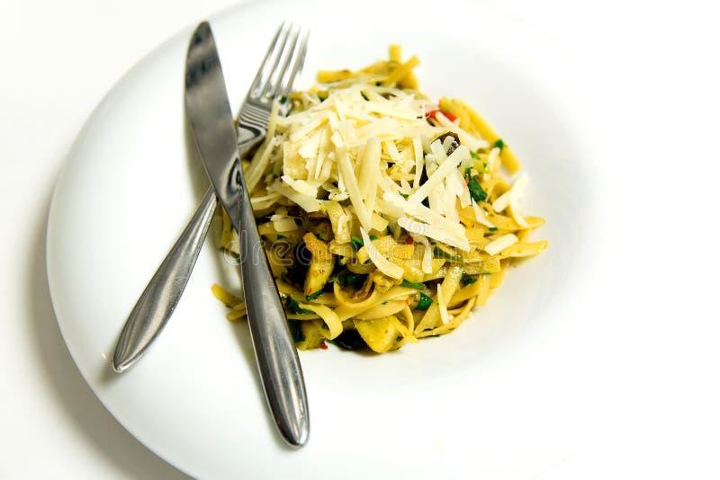 Fettuccine bolognese ζυμαρικών στοκ εικόνες