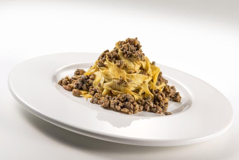 Fettuccine bolognese блюда макаронных изделий стоковые фотографии rf