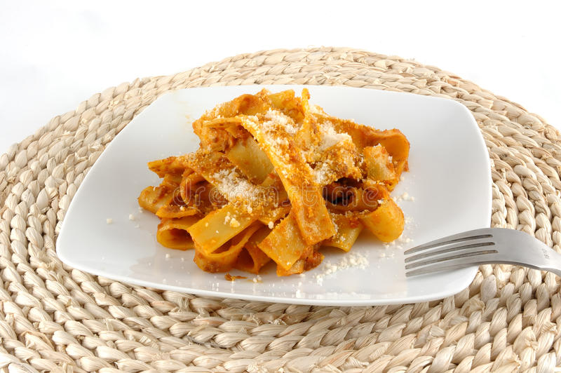 Download Fettuccini with boar stock image. Image of eating, ragout - 12051083