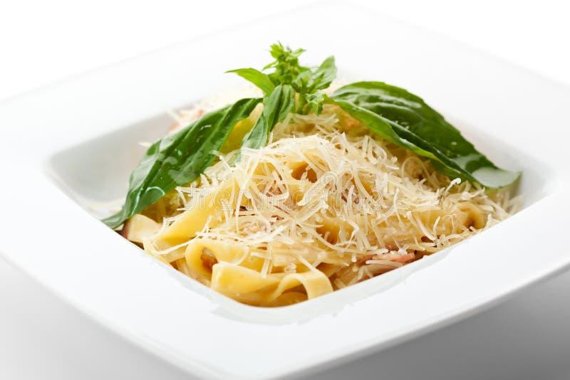 Fettucine Carbonara images stock
