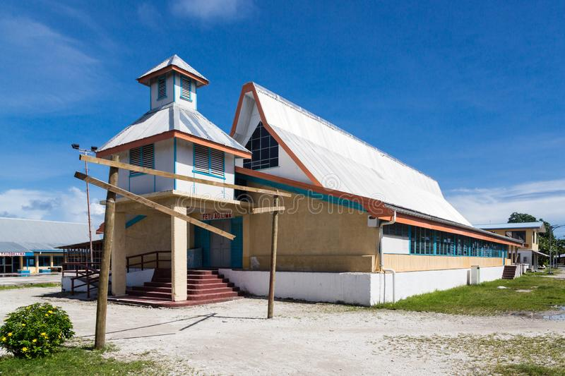 Fetu Ao Lima Morning Star Church av kyrkan av Tuvalu oceania royaltyfri bild