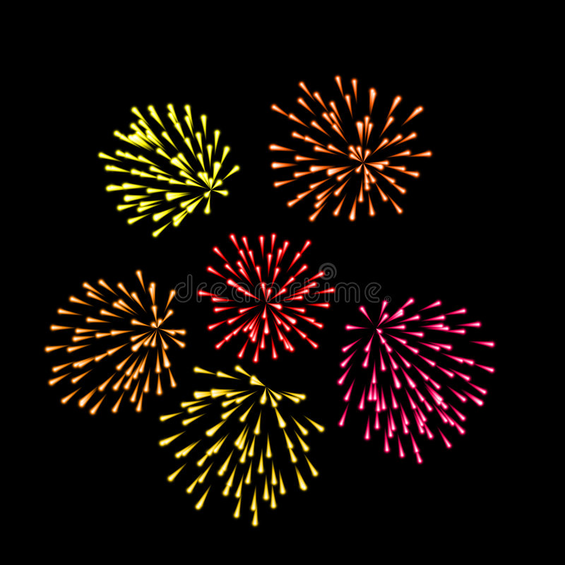 Feu d'artifice illustration stock