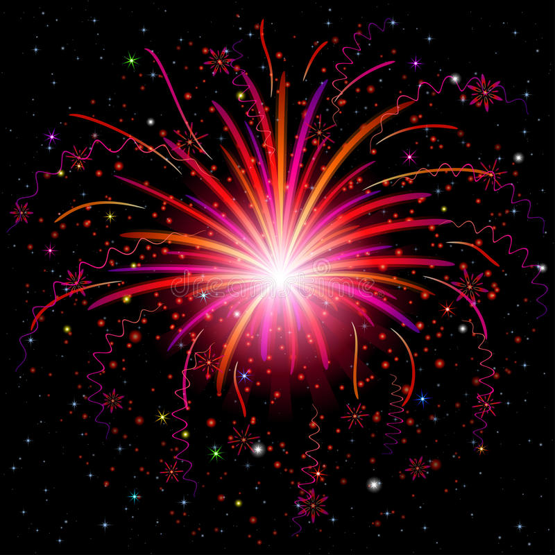 Feu d'artifice illustration libre de droits