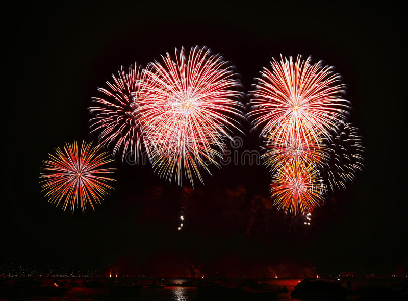 Feu d'artifice images libres de droits