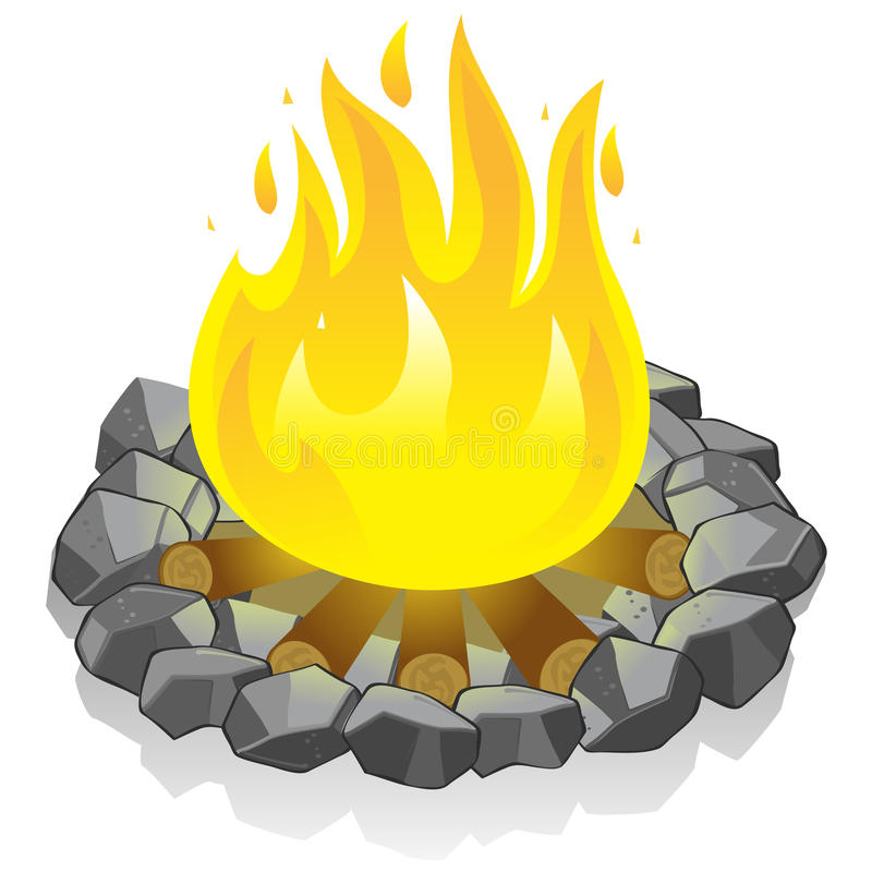feu de camp illustration stock illustration du flamme 22785805. Black Bedroom Furniture Sets. Home Design Ideas