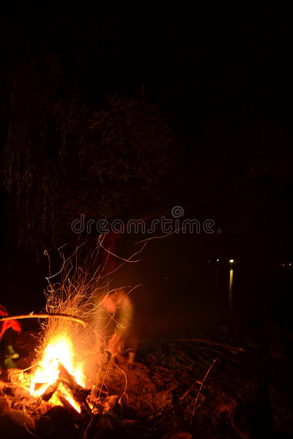 Feu de camp 2 images stock