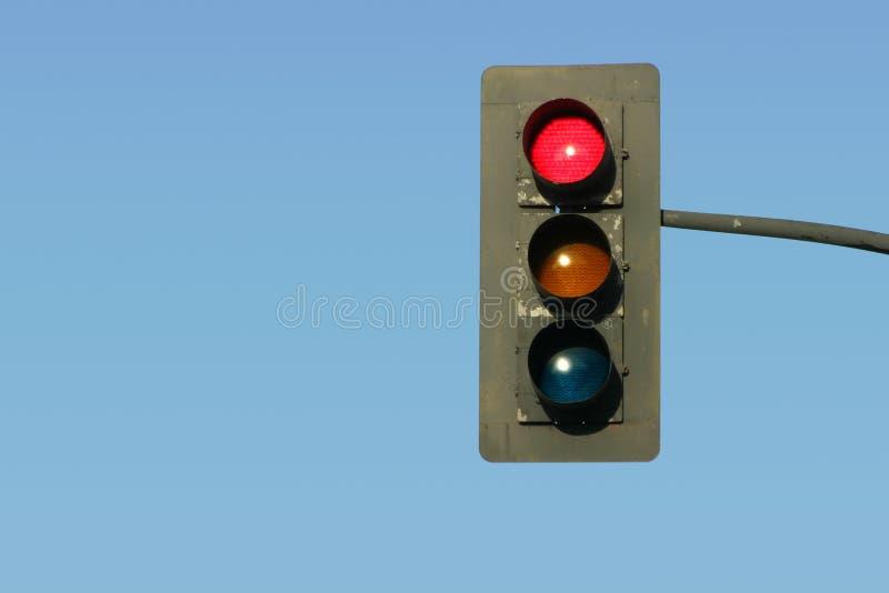 Download Feu de signalisation rouge image stock. Image du indicateur - 733539