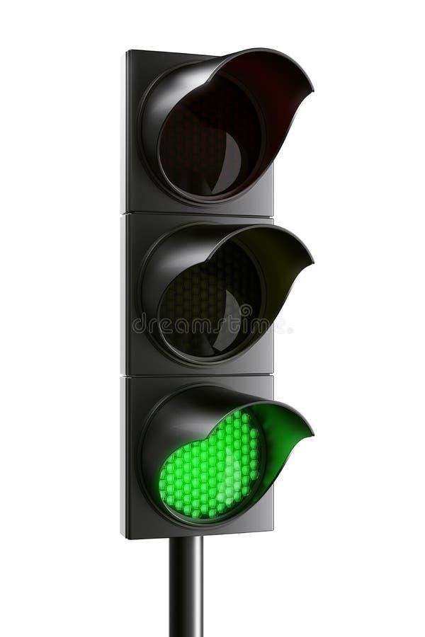 Feu de signalisation vert illustration stock