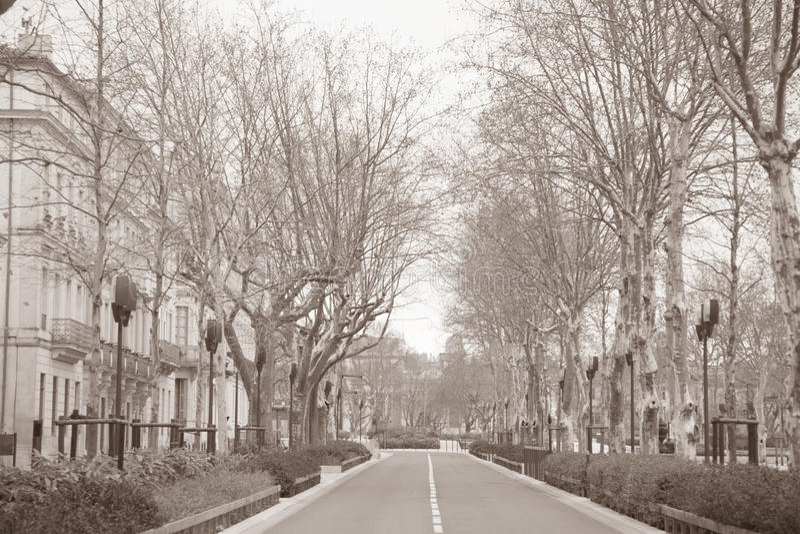 Feucheres ulica, Nimes; Francja obraz stock