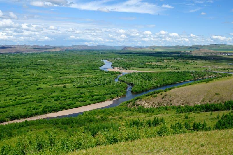 Feuchtgebiete in Inner Mongolia stockfoto