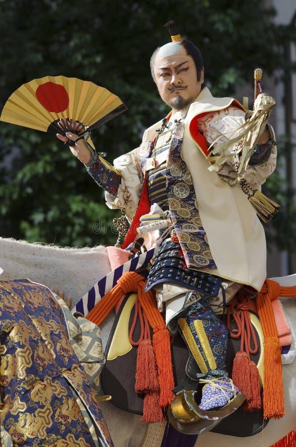 Feudal Lord at Nagoya Festival, Japan stock image