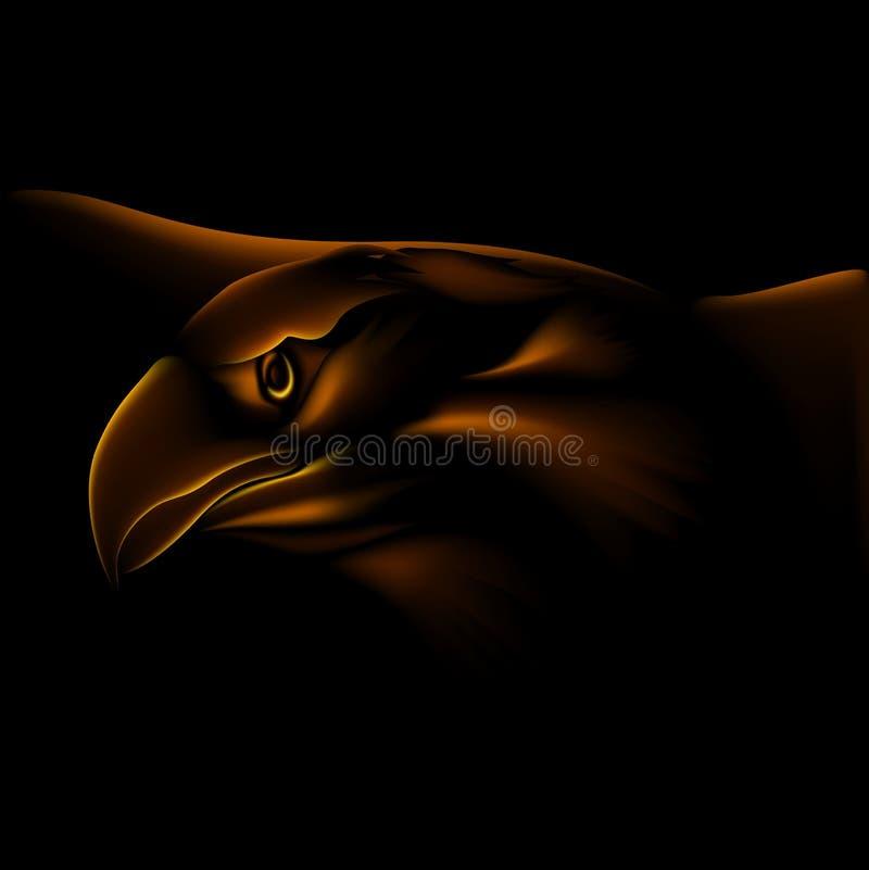 Feuer-Adler lizenzfreie abbildung