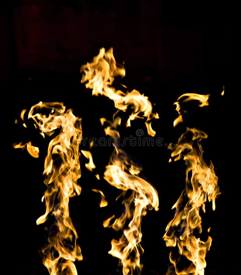 Feuer auf Schwarzem stockbilder