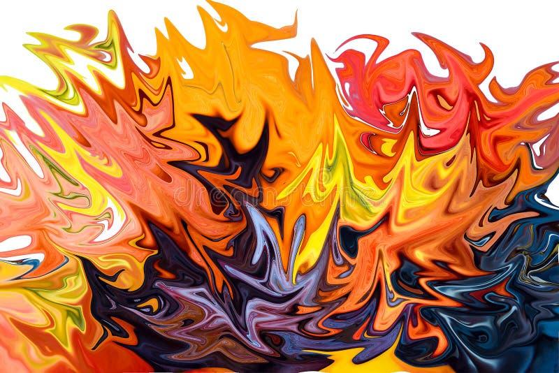 Feuer der Eitelkeiten Abstraktion lizenzfreie stockfotografie