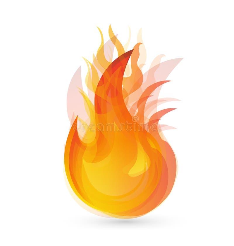Feuer flammt Logo lizenzfreie abbildung