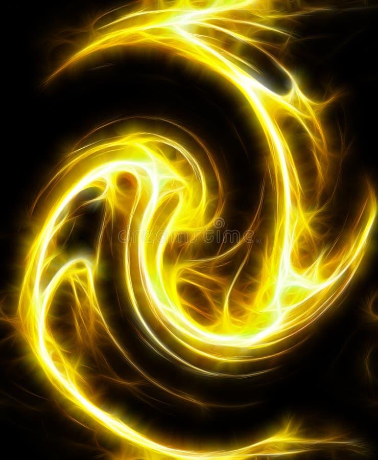 Feuer Fractalabbildung stock abbildung