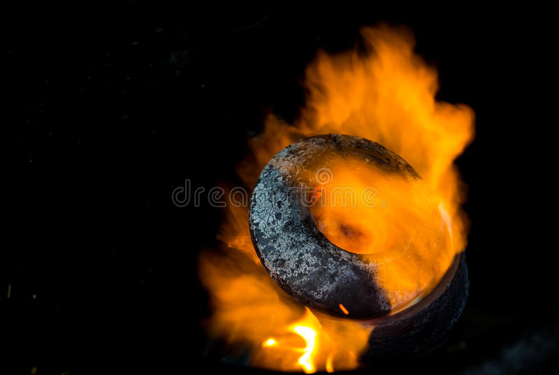 Feuer gass lizenzfreie stockfotos