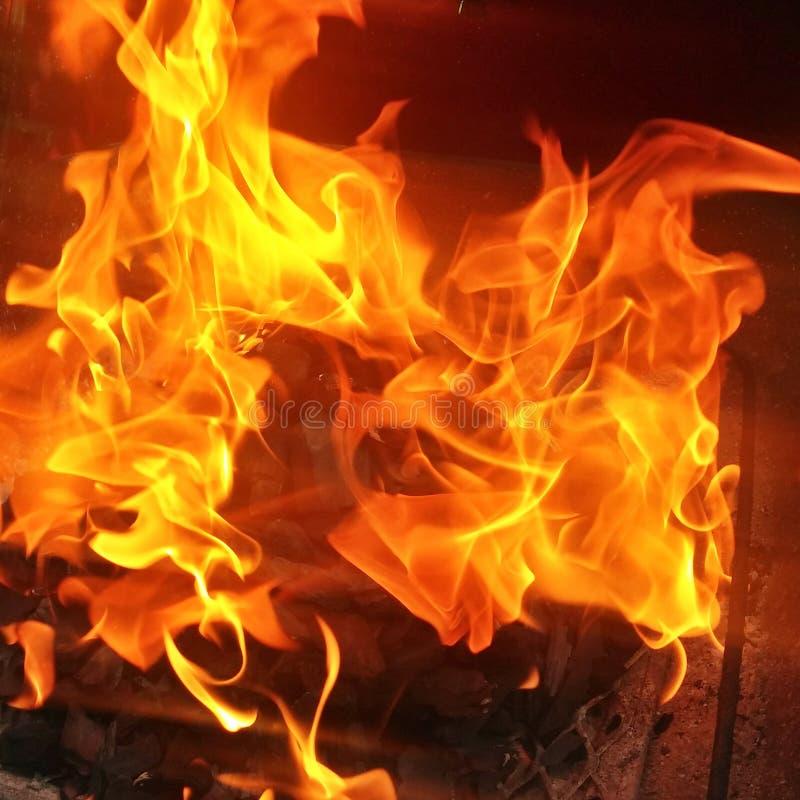 Feuer Hintergrund fotografia stock libera da diritti