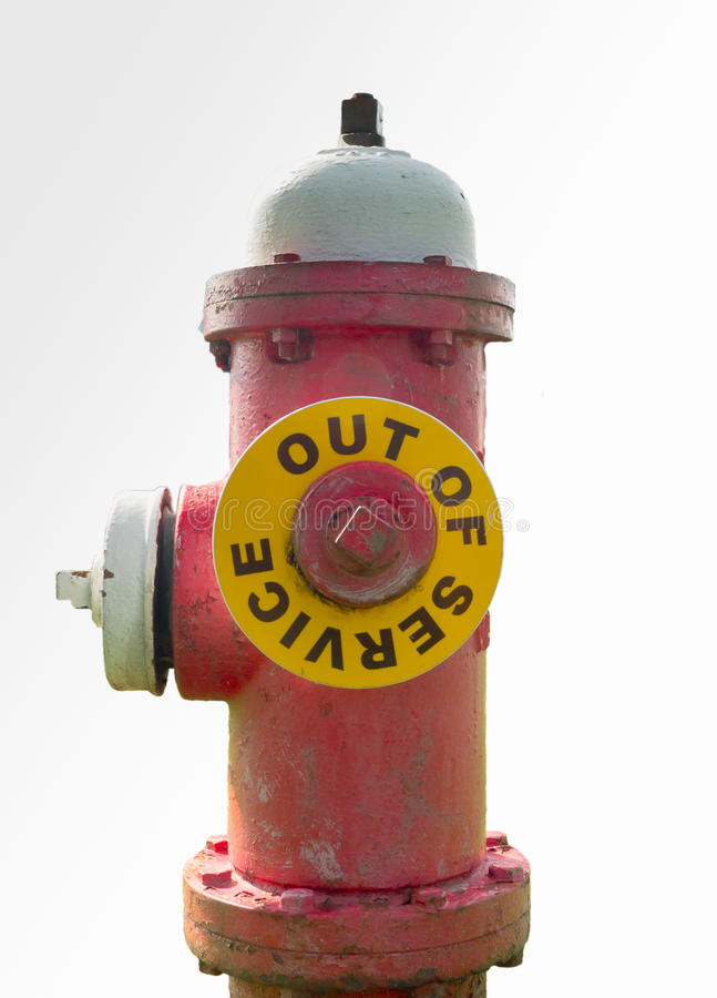 Feuer-Hydrant außer Betrieb befindlich lizenzfreie stockfotos