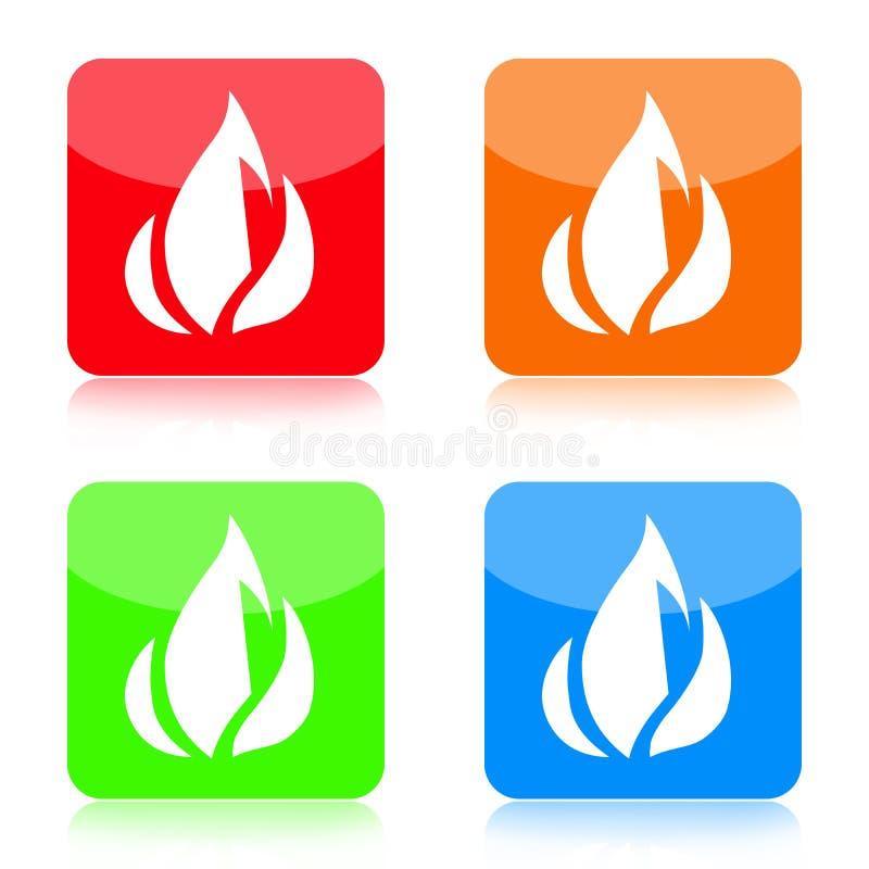 Feuer-Ikonen-Set vektor abbildung
