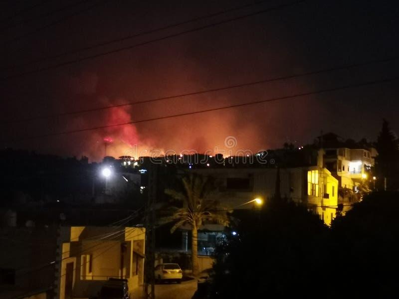 Feuer in lebanon stockbild
