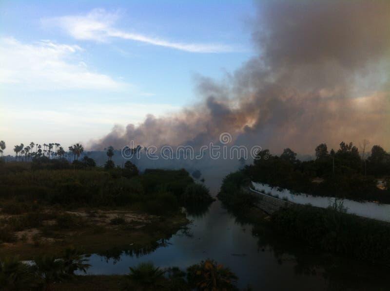 Feuer in Los Cabos lizenzfreie stockfotografie