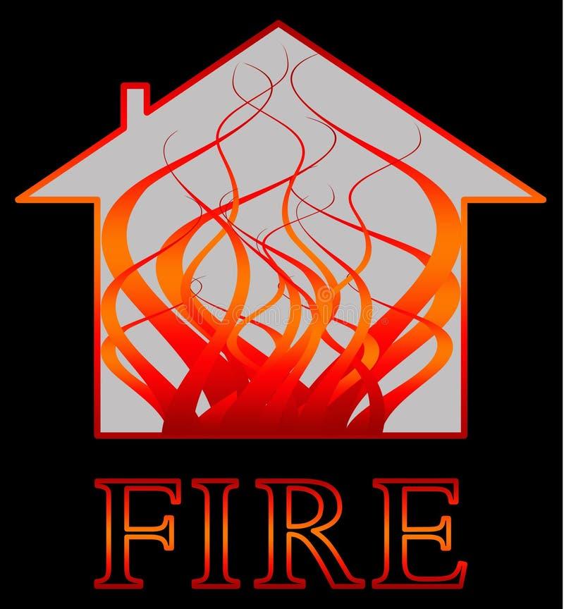 Feuer mit Flammen stock abbildung