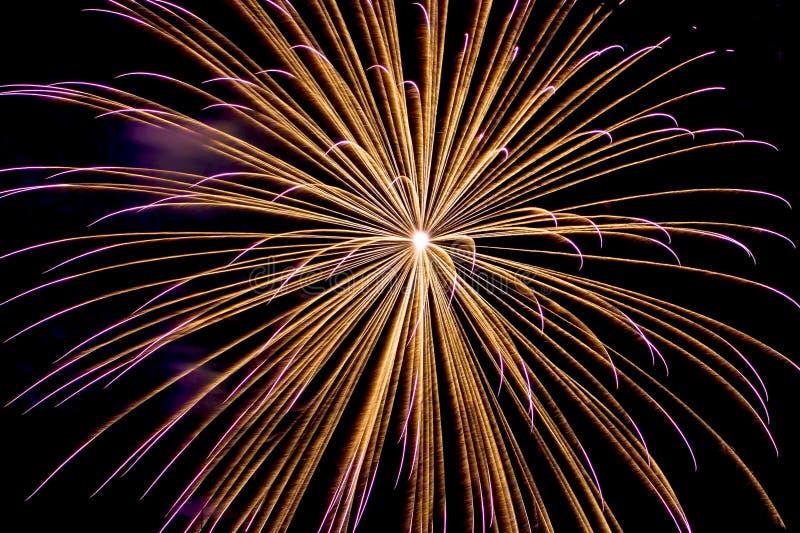 Feuer-orange Feuerwerks-Hintergrund lizenzfreie stockbilder