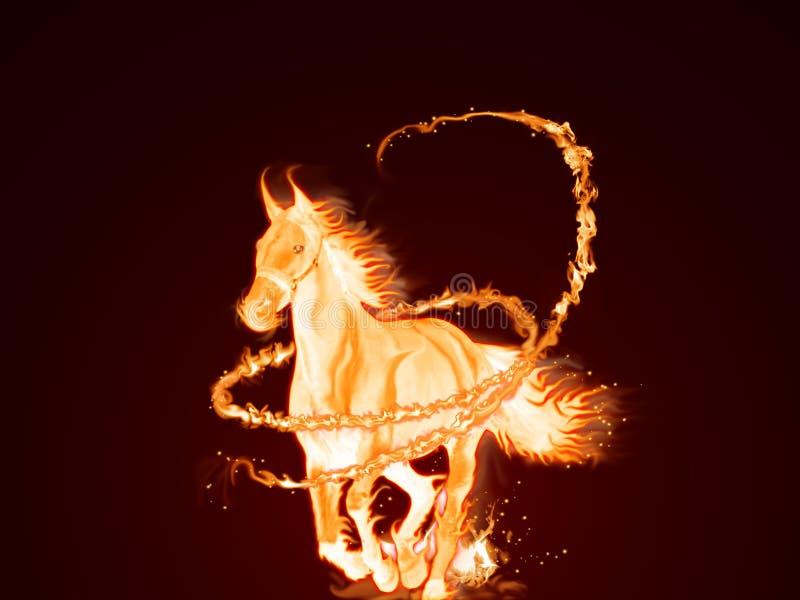 Feuer-Pferd stock abbildung. Illustration von feuer