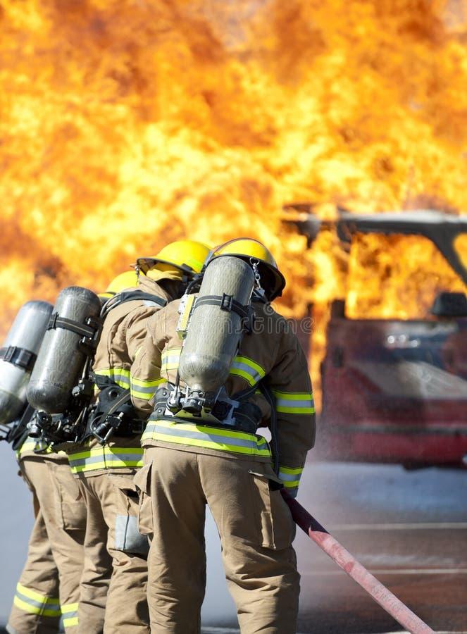 Feuer-Schulungsübung lizenzfreies stockfoto