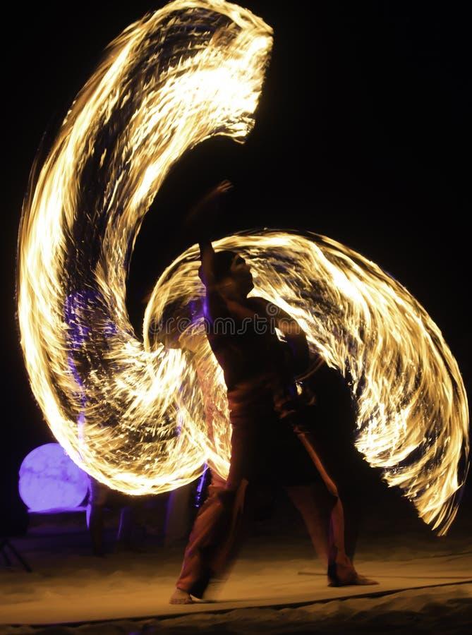 Feuer-Show stockbilder