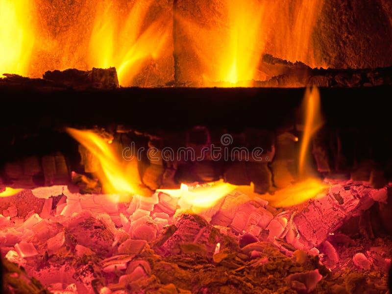 Feuer und Flamme stockfoto